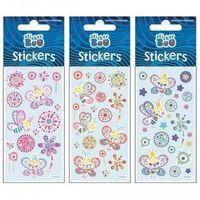 Naklejki, Naklejki Sticker BOO silver motylki