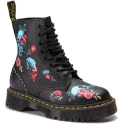Glany DR. MARTENS - 1460 Pascal Bex Rose 24424001 Black/Multi
