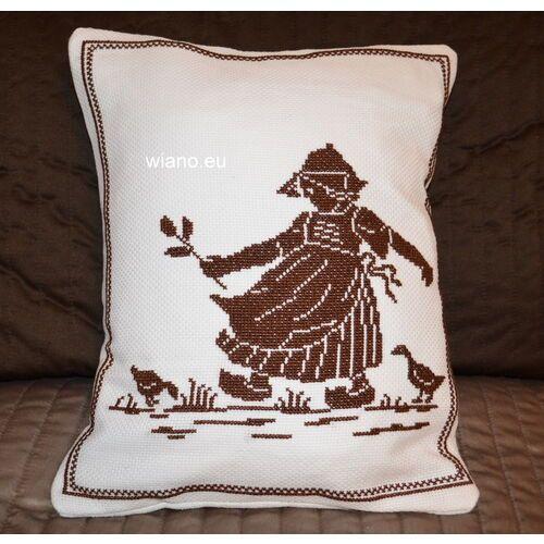 Poszewki, Poszewka na poduszkę, haftowna, wzór mazurski 33x27 (jw-10)