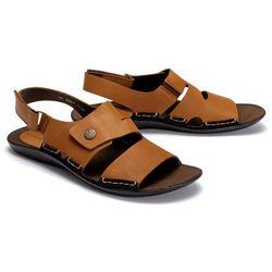 NIK 06-0227-00-0-14-00 rudy, sandały męskie - Brązowy