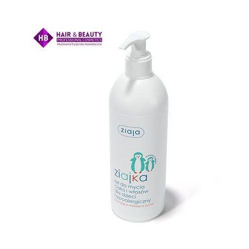Szampony i odżywki dla dzieci, ZIAJA ZIAJKA Żel do mycia ciała i włosów dla dzieci hypoalergiczny 400 ml