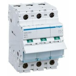 Rozłącznik modułowy 80A 3-biegunowy SBN380 HAGER