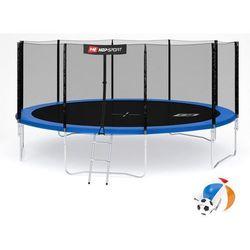 Trampolina 16ft (488cm) z siatką zewnętrzną Hop-Sport - 4 nogi - 16ft (488cm) \ niebieski