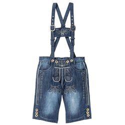 """Bermudy dżinsowe w ludowym stylu Regular Fit bonprix niebieski """"stone"""