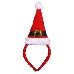 Opaska z czapką Św. Mikołaja 11x19 cm - ozdoby i dekoracje świąteczne