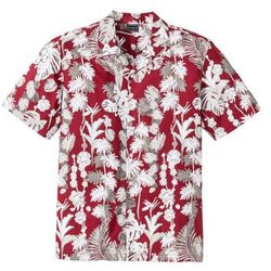 Koszula z krótkim rękawem w hawajski deseń, Regular Fit bonprix czerwony z nadrukiem