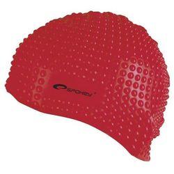 Czepek silikonowy bąbelkowy Spokey belbin 84126 czerwony