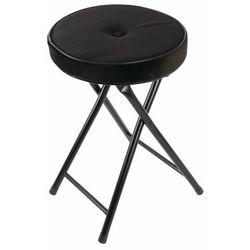 Składany stołek Margot Velvet czarny - czarny