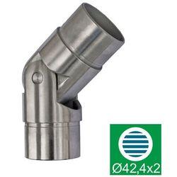 Kolanko przegubowe AISI304, 0-70°/D42,4mm, polishe