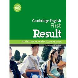 Cambrigde Enlish First Result SB+Online Pract.2015/DVD grat/