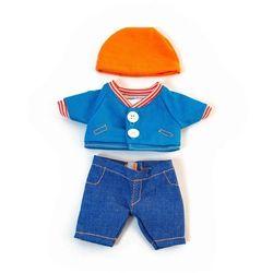Ubranko dla lalki 21 cm spodenki kurtka i czapeczka