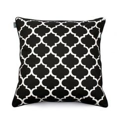 Ozdobna poszewka na poduszkę marokańska koniczyna, czarna - We Love Beds