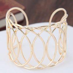Bransoleta przewiewna złota - ZŁOTA