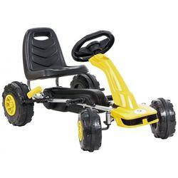 Gokart na pedały KIDZ MOTION Jeździk dla dzieci 3-8 lat Żółty + DARMOWY TRANSPORT!