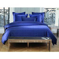 Pościel AZZARO z bawełnianego perkalu BEAUMONT - poszwa na kołdrę 240 x 200 cm + 2 poszewki na poduszkę 65 x 65 cm - Kolor niebieski