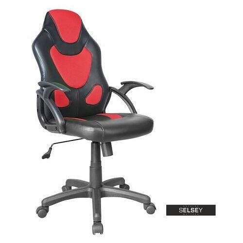 Fotele dla graczy, SELSEY Fotel gamingowy Garner czerwono - czarny