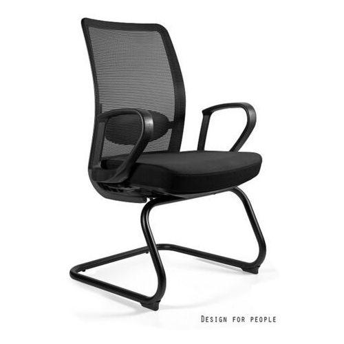 Fotele i krzesła biurowe, Fotel Anggun skid - 18 KOLORÓW (Tkanina BL)