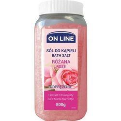 On Line Odprężająca Sól do kąpieli Róża 800g