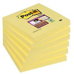 Bloczek samoprzylepny POST-IT Super Sticky (654-S), 76x76mm, 1x90 kart., żółty