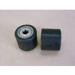 ROLKA metalowo-gumowa do wózka paletowego 82 x 70 mm