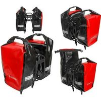Sakwy, torby i plecaki rowerowe, Sakwa na bagażnik CROSSO DRY SMALL 30L czerwona