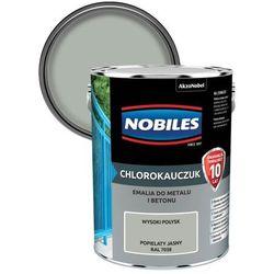Emalia chlorokauczukowa Nobiles do metalu i betonu popielaty jasny 5 l