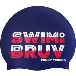 Funky Trunks Silicone Czepek pływacki, niebieski 2020 Czepki pływackie Przy złożeniu zamówienia do godziny 16 ( od Pon. do Pt., wszystkie metody płatności z wyjątkiem przelewu bankowego), wysyłka odbędzie się tego samego dnia.