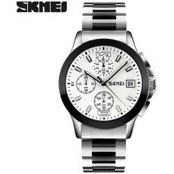 Zegarek męski SKMEI 9126 bransoleta silver - SILVER