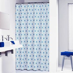 Sealskin Zasłona prysznicowa Triangles, 180 cm, niebieska, 233011321 Darmowa wysyłka i zwroty