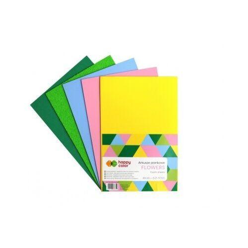 Pozostałe artykuły szkolne, Arkusze piankowe A4 5 kolorów Flower mix