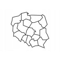 Mapa polski metalowa ścienna d33 40cm