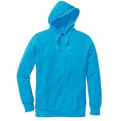 Bluza z kapturem Regular Fit bonprix turkusowy