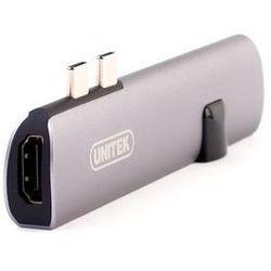 Unitek D008A Hub USB-C - HDMI + Gigabit + PD