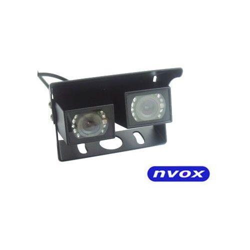 Kamery cofania, Samochodowa podwójna kamera cofania CMOS II w metalowej obudowie 12V 24V