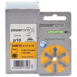 60 x baterie do aparatów słuchowych Power One Varta 10 MF