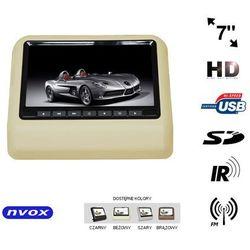 "NVOX VR7017HD BE Monitor na zagłówek samochodowy LCD 7"" LED HD DVD USB SD IR FM GRY 12V"