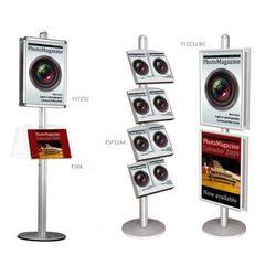 Display wolnostojący 2x3 z zaokrąglonymi narożnikami A1(594x841mm)