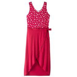 Letnia sukienka z długą spódnicą bonprix czerwony z nadrukiem