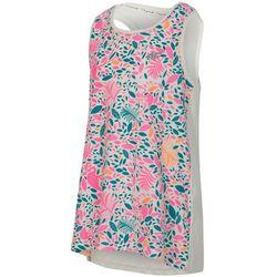 Koszulka bez rękawów dla małych dziewczynek JTSD109 - allover