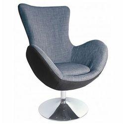 Ekskluzywny fotel wypoczynkowy Zoltis - popielaty
