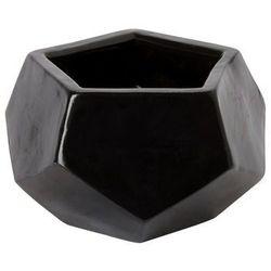 Doniczka ceramiczna GoodHome ozdobna 9 cm czarna