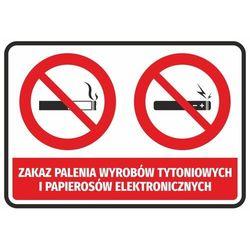 Naklejka zakaz palenia wyrobów tytoniowych i papierosów elektronicznych