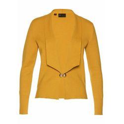Sweter rozpinany z domieszką kaszmiru bonprix biel wełny - czarny