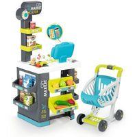 Sklepy i kasy dla dzieci, Smoby Duży Supermarket Kasa 34 Elementy 350206