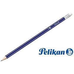 Drewniany ołówek HB z gumką, 1 szt, PELIKAN - HB
