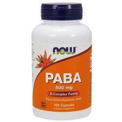 PABA (Kwas p-aminobenzoesowy) 500mg 100 kaps.