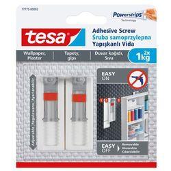 Śruby samoprzylepne Tesa regulowane do tapet udźwig 1 kg 2 szt.