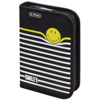 Piórniki, Piórnik wyposaż 19 Smiley.World B Y Stripe HERLITZ - Black&Yellow Stripes