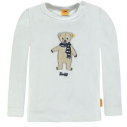 Steiff Collection SWEET TEDDY Bluzka z długim rękawem cloud dancer/white