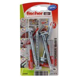 Kołek uniwersalny Fischer Duopower 10 x 50 z wkrętem 4 szt.